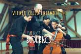 Four Musicians Playing Bolero On One Cello
